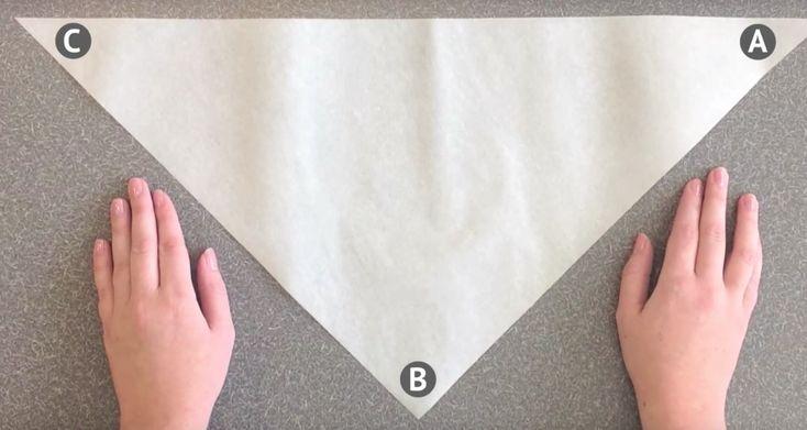 Zo vouw je binnen een minuut een spuitzak van bakpapier