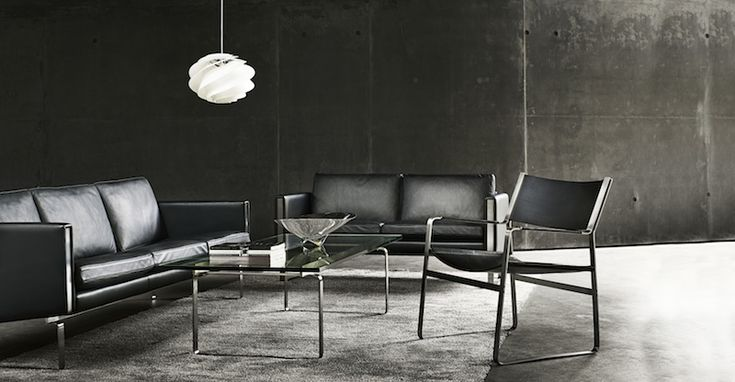 CH102 and 103 sofas with CH112 lounge chair  Danish Interior Design Budapest
