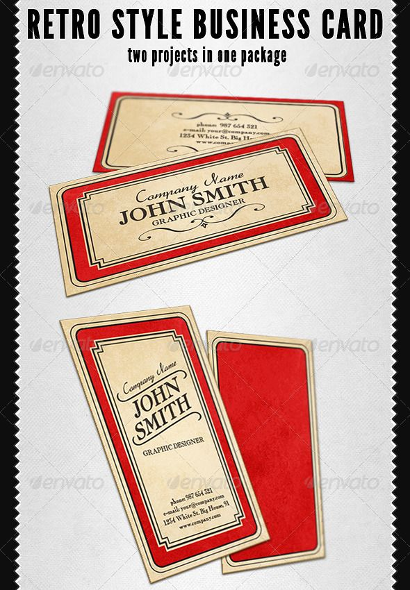 10 best vintage business cards images on pinterest vintage retro style business card reheart Image collections