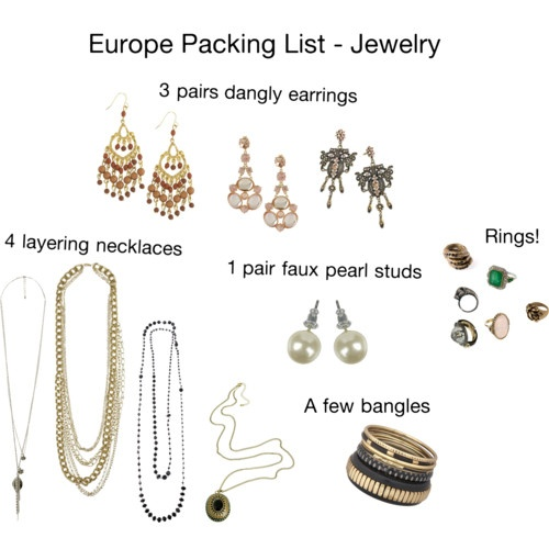 Europe Packing List - Jewelry