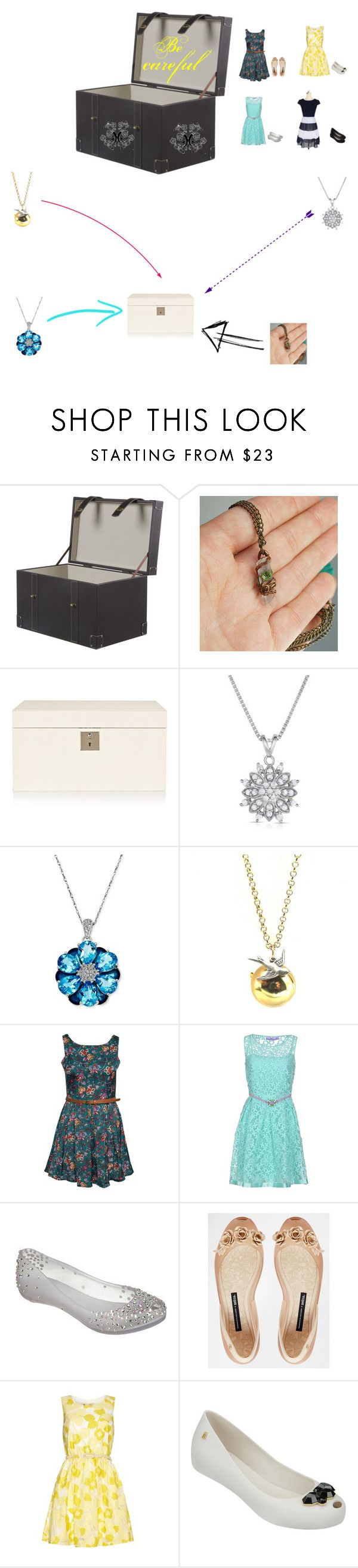 """""""Presente"""" by isaahliz ❤ liked on Polyvore featuring Smythson, R.H. Macy's & Co., Glamorous, 22 Maggio, Melissa and Yumi"""