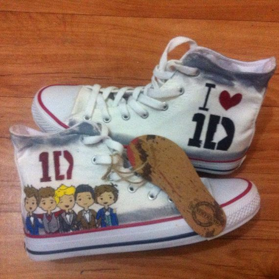 One Direction Shoes by denimtrend on Etsy, $65.00