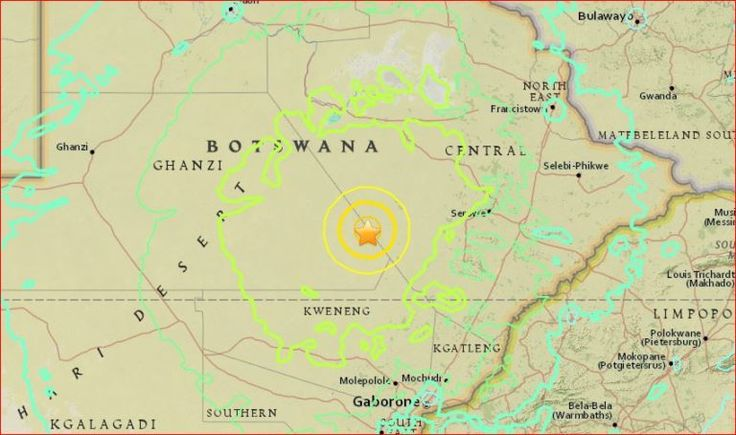 Botswana hit by strongest Earthquake in its history felt across southern Africa