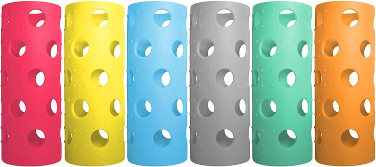 Silicone Sleeves: 6-Pack Insulated Anti-Slip Protection Covers, Ultra Thick & Durable, Better than Neoprene & Rubber, Perfect for Brieftons, Aquasana, Pratico Kitchen, Epica & Similar Glass Bottles