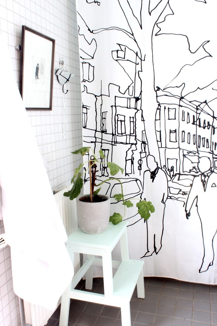 my scandinavian home: My home: art in the bathroom