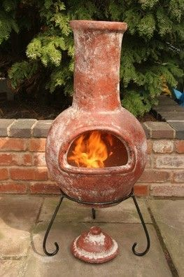 Colima Mexican Chiminea (Large). Kev and I are moving later this month and I desperately want a chiminea for the garden