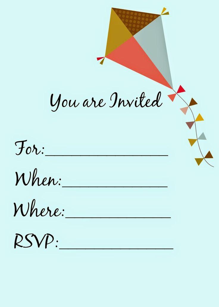 DIY: FREE Printable Kite Party Invitation