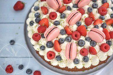 Gâteau rapide et facile, pistache et fruits rouges
