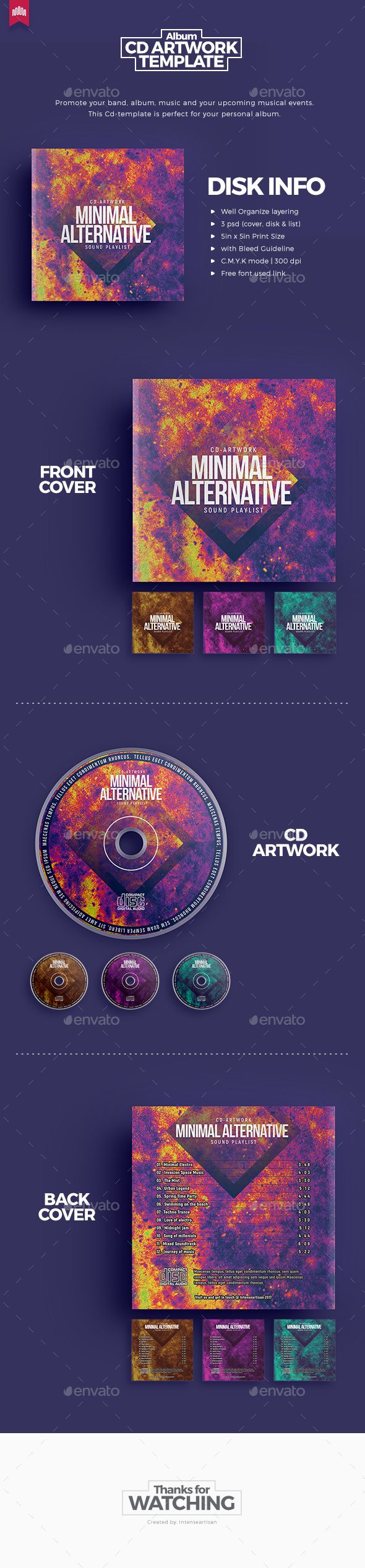 Minimal Alternative - Cd Artwork - #CD & #DVD Artwork Print Templates