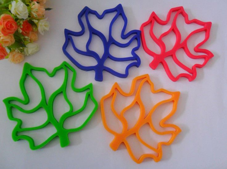 New Maple Leaf Silicone Baking Tools Mats Silicone Mat Heat Insulat Color Random | eBay