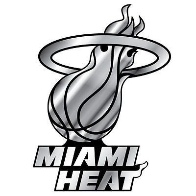 Miami Heat Logo 3D Chrome Auto Decal Sticker NEW! Truck or Car!!