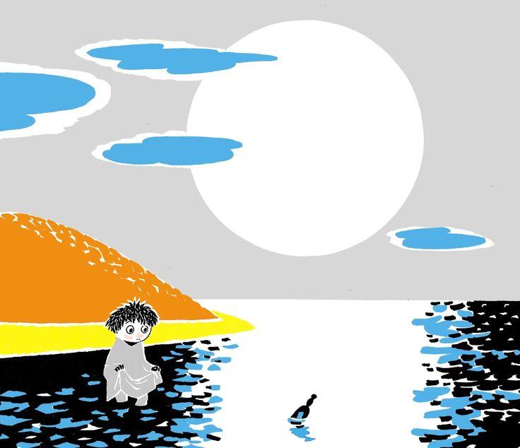 """Men ute i atlantens svarta vatten en ensam flaska låg och drev och drev, den flöt iland på udden framåt natten och inne i den låg ett litet brev. Det var en sorgsen text, och den var kort och namnet hade havet tvättat bort. """"...jag är så rädd för mårrans tjut och jag har ingen vän, jag känner mig så övergiven nu i skymningen... försök att lite trösta mig om du är stark och snäll, jag är ett mycket litet skrutt och det är nästan kväll...""""."""