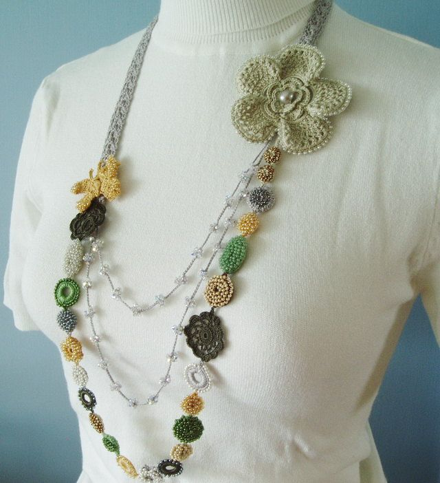 Irish Filigree Crochet Necklace Free Pattern : 17 Best images about Jewellery on Pinterest Free pattern ...