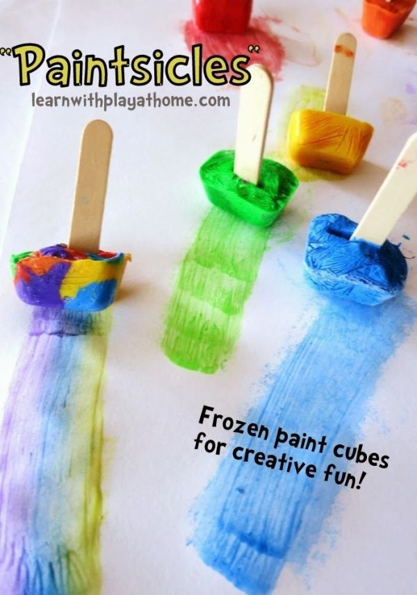 """Paintsicles"" Frozen paint cubes for creative fun. From Learn with Play at Home. by katrina"