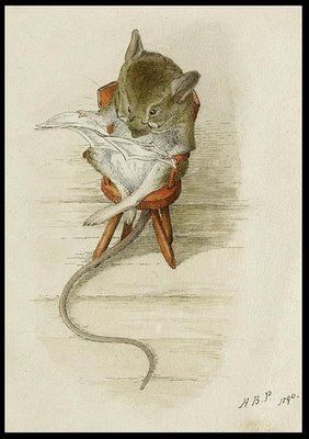 Field mouse reading the paper