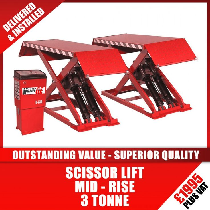 Tyre Equipment Direct - Z30 – 3 Tonne Mid-Rise Scissor Vehicle Lift
