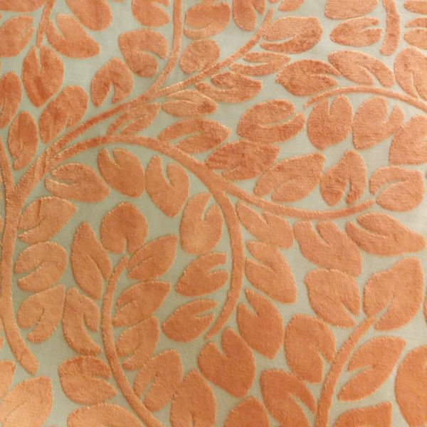 Hybrid Velvet Straw Orange Fl Cut Upholstery Fabric By P Kaufmann Sw53946 Fashion