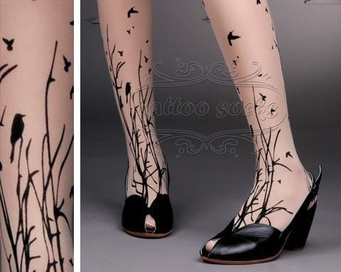 forest printed tights
