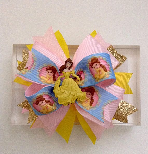Belle Boutique Hair Bow Beauty and the Beast Inspired Hair