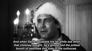 'Christmas Vacation' with the Griswold family.....Chevy Chase, Beverly D'Angelo, Juliette Lewis, Johnny Galecki. we kick off the holiday season by watching this yearly, so many laughs !