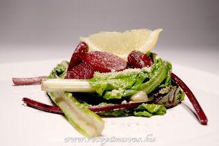 Mángold és céklalevél saláta ~ Receptműves