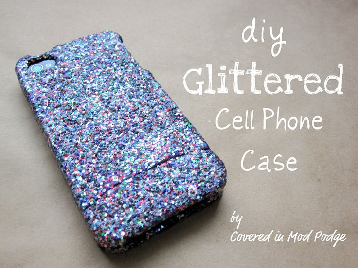 Covered in Mod Podge: Glitter iPhone Case {or why not!}