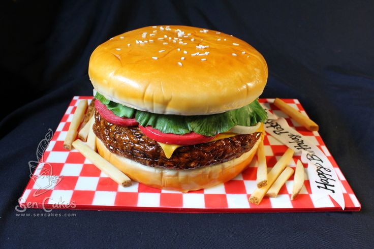 Hamburger Cake - I had one for one of my birthdays! I think it was my 14th. It had fries and a shake! So awesome!