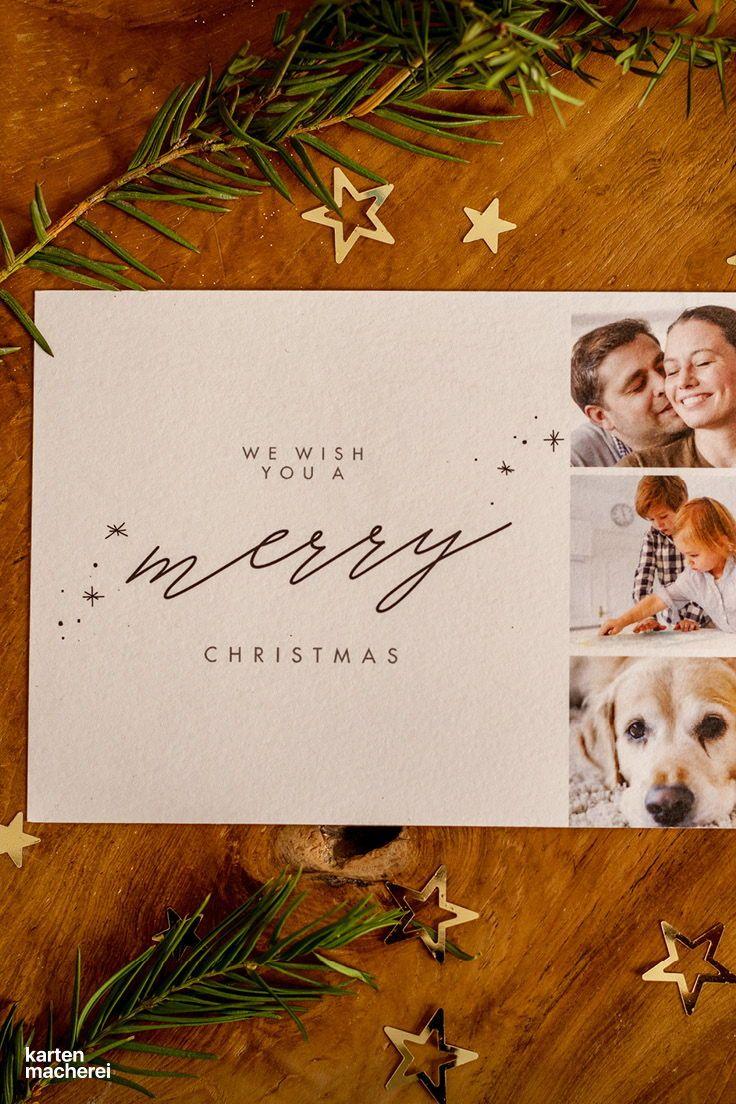 Weihnachtskarte letter love weihnachtskarten winterwelten lettering