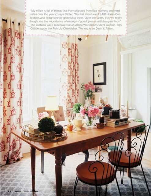 The Decorista-Domestic Bliss: office space of the day...super sweet style