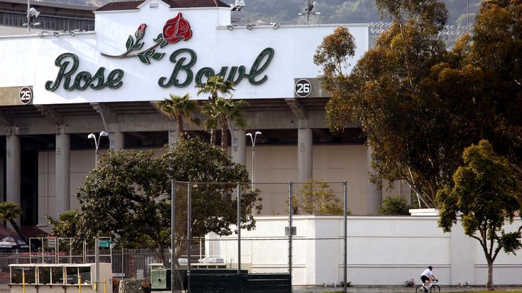 The Georgia Bulldogs and the Oklahoma Sooners meet in the Rose Bowl game at 1 p.m. Monday. Here's what you need to know about how to get the stadium and what you can take into it.