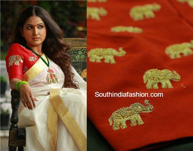 www.southindiafashion.com wp-content uploads 2016 09 elephant_design_blouse_pranaah_poornima_indrajith.jpg