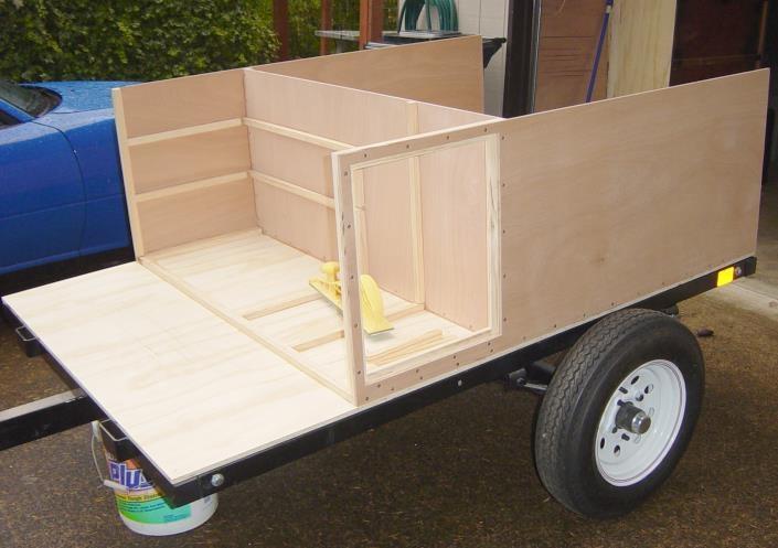 Explorer Box trailer under construction
