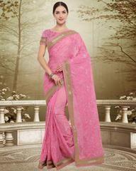Pink Color Georgette Designer Party Wear Sarees : Swatir Collection YF-64537