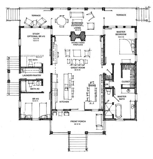Empty nester floor plans gurus floor Best empty nester house plans