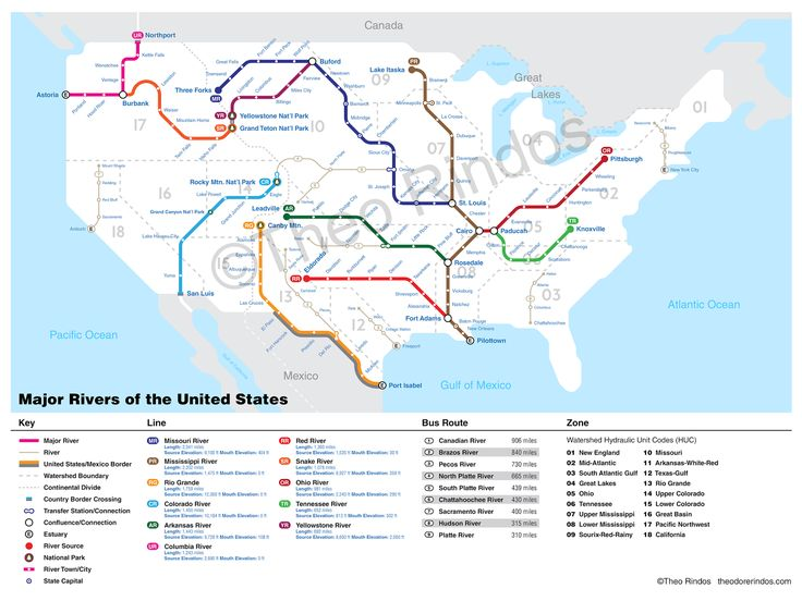Best Rivers Images On Pinterest Basins Maps And Cartography - Us map of major rivers