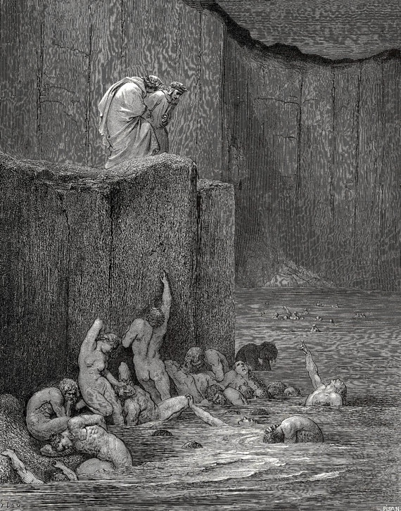 Giclee Prints Gustave Dore, Dante's Inferno,Why greedily thus bendest more on me than on these other filthy ones thy ken. Dore,Gustave C. 43, Giclee Prints by SILVESTROMEDIA, $19.99