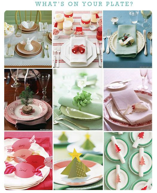 Cute ways to decorate a table at Christmas
