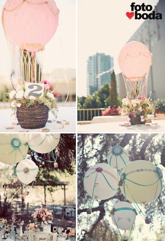 Una idea muy especial para la decoración de las mesas de tu boda