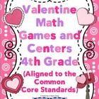 Your students will have a blast playing these Valentine themed math games. All the games are aligned to the 4th grade Common Core Standards. In add...