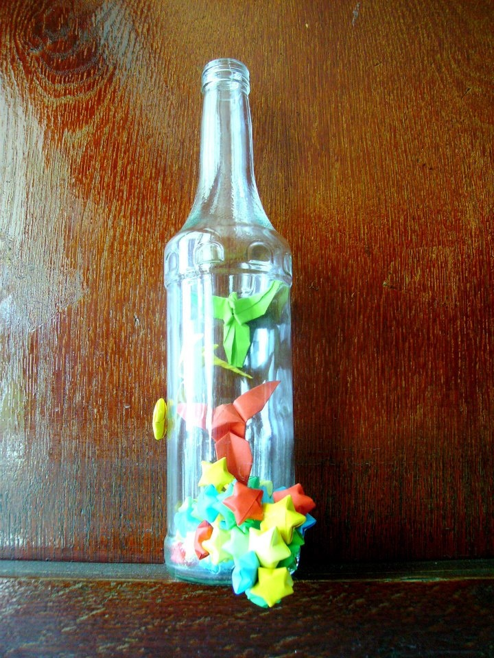 Origami in bottle