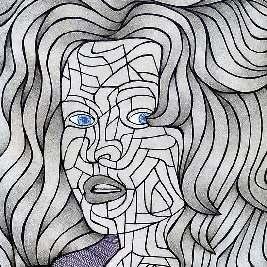 #medusa #staring #eyes #abstractface #femaleface #samserif