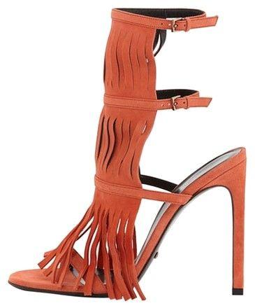 Gucci Becky Heel Women Size 5 Orange Pumps