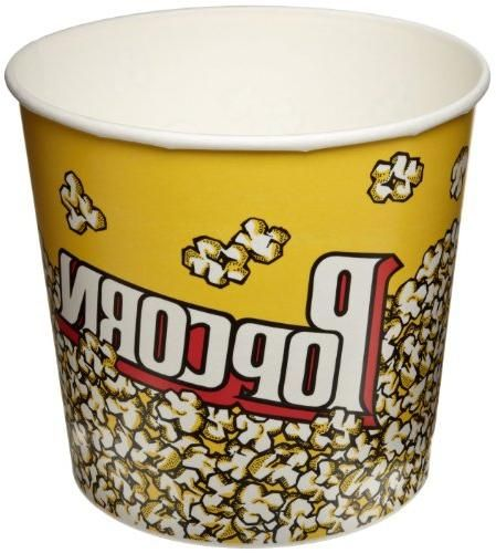 SOLO VP85-00061 Single-Sided Poly Paper Popcorn Tub, 85 oz. Capacity, Popcorn Print (Case of 150)