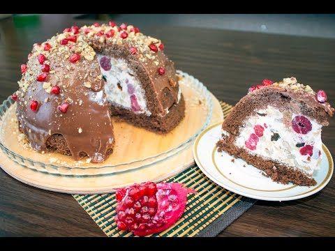 "Торт мороженое ""Черный лес"" / Ice cream cake ""Black forest"" - Я - ТОРТодел! - YouTube"