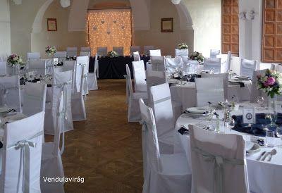 Vendulavirág Esküvőszervezés és dekoráció: Tengerészkék és ezüst esküvő a Pécsváradi várban.....