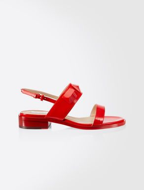 Red Leather sandals