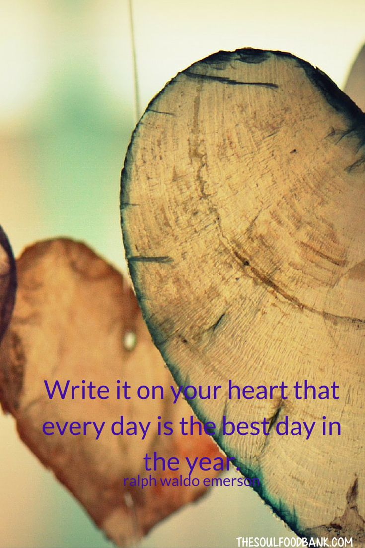 Whatever you write on your heart becomes the compass from which you direct your actions and the way you live your life. Why not examine...