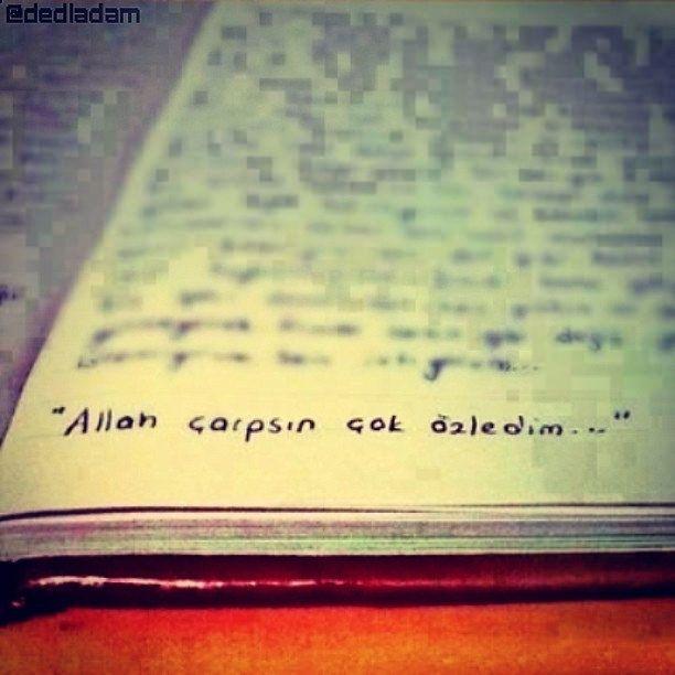 """#şiirsokakta """"Allah çarpsın çok özledim!"""""""