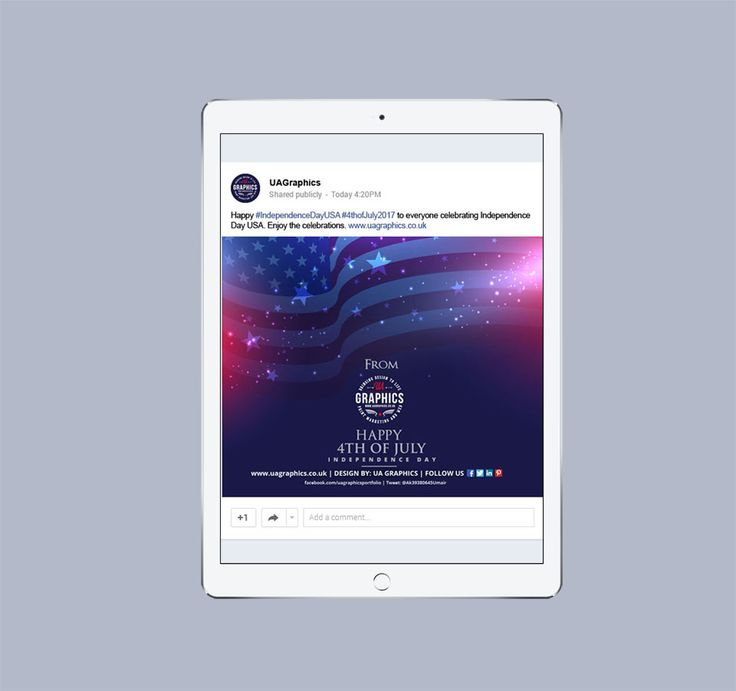 USA Independence Day 2017 – Google Plus post advert on digital tablet for USA Independence Day 2017. #graphicdesign #digitalmarketing #onlinemarketing #GooglePlus #Googleplusadvert #digitaltablet #iPad #USA #UnitedStates #4thofJuly2017