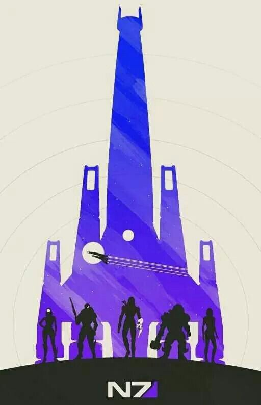 Here's two out of the six minimalist Mass Effect posters released by artist…